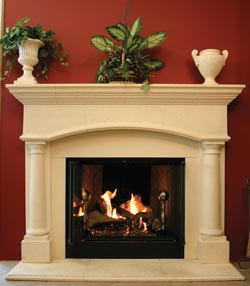 Fireplaces displayed in our showroom